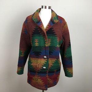 Vintage Southwest Wool Jacket Made in USA